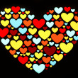 Hearts in Heart Shape — Stock Photo