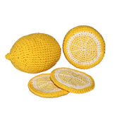 Lemons crocheted — Stock Photo