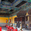 Interior room in oriental style Temple of Heaven in Beijing — Stock Photo #17646439