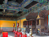 Interior room in oriental style the Temple of Heaven in Beijing — Stock Photo