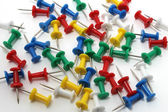 Colored drawing pins — Stock Photo