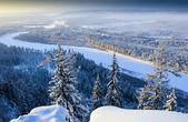 River Valley in South Yakutia Chulman winter — Stock Photo