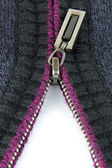 Zipper on woolen clothes — Stock Photo