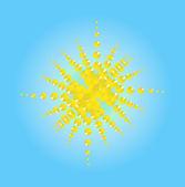 An abstract sun — Stock Vector