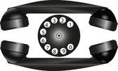 Retro phone — Stock Vector