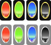 Uppsättning färgade knappar — Stockvektor