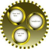 Metallic gear wheels — Stock Vector