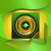 Abstract picture of green jewel — Stock Vector