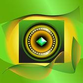 Abstracte beeld van groene juweel — Stockvector