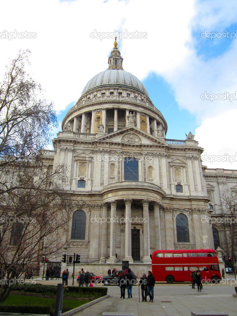 Saint Paul's Cathedral facade, London, Uk. – Stock ...