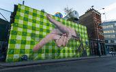 Big graffiti mural in Shoreditch, London — Stock Photo