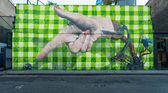 Big graffiti mural in Shoreditch, London — Zdjęcie stockowe