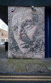 Büyük graffiti duvar shoreditch, londra sokak sanatı — Stok fotoğraf