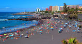 Puerto de la Cruz , Playa Jardin ,Tenerife ,Canarian Islands — Stock Photo