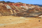 Iron pyrite, Corta Atalaya, the largest open pit mine in Europe, Minas de Riotinto, Nerva. Huelva province, Andalusia, Spain — Stock Photo