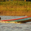 Boating on the River, peru Amazon — Stock Photo