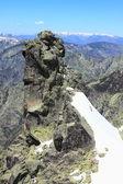 Snow gredos mountains in avila Spain — Stock Photo
