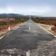 Stock Photo: Empty never ending road in island Madeira