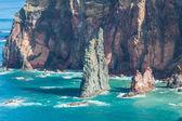 Východní pobřeží Madeiry ostrov? Ponta de sao lourenco — Stock fotografie