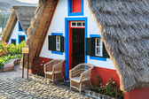 Typical old houses on Santana, Madeira island, Portugal — Stock Photo