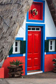 View of typical houses in Santana, Madeira island — Stock Photo