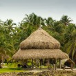Traditional house in the island Mucura ,Colombia — Stock Photo