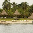 Постер, плакат: A tiny island in the caribbean Archipelago san Bernardo near Tolu Colombia
