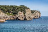 Pláž pechon, kantábrie, španělsko — Stock fotografie
