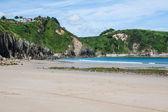 Spiaggia di pechon, cantabria, spagna — Foto Stock
