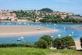 Coastal village in Cantabria, San Vicente de la Barquera,Spain — Stock Photo