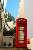 Closeup detail of iconic British Telephone Box located in Gibraltar — Stockfoto