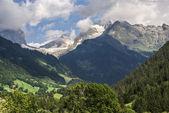 Snow mountain under blue sky in the gadmen,Switzerland — Stock Photo