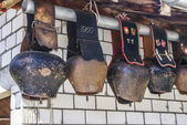 Traditional Swiss cowbells — Stockfoto
