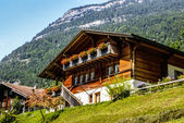 Evolene,Old houses in Switzerland — Stock Photo