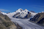 Aletch the longest glacier in Alps — Stock Photo