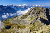 Alpine Alps mountain landscape at Jungfraujoch, Top of Europe Sw — Stock Photo