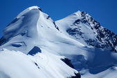 Breithorn peak in Swiss Alps seen from klein Matterhorn — Stock Photo