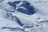 Skipiste in Zwitserse Alpen, zermatt — Stockfoto