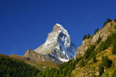 Matterhorn (4478m) w Alpach Pennińskich od zermatt, Szwajcaria — Zdjęcie stockowe