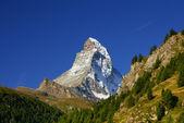 Matterhorn (4478m) in de Walliser Alpen van zermatt, Zwitserland — Stockfoto