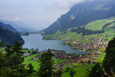 Panoramic view of Grindelwald Village, Switzerland — Stock Photo
