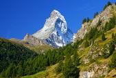 Matterhorn (4478m) in the Pennine Alps from Zermatt, Switzerland — Stock Photo