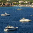 View of Harbor and marinwith moored yachts and motorboats in C — Stock Photo #39448471
