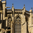 Beautiful medieval cathedral in Carcassonne. Sunny day. — Stock Photo #39453369