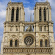 Stock Photo: PARIS -Norte Dame Cathedral is on of Paris's most visited touris