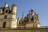 Chambord castle is located in Loir-et-Cher, France. It has a ver — Stock Photo
