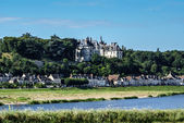 Chaumont sur Loire village and castle, Loir-et-Cher, France — Stock Photo
