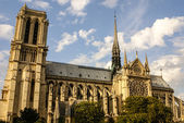 PARIS -Norte Dame Cathedral is on of Paris's most visited touris — Stok fotoğraf
