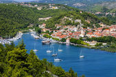 Skradin - small city on Adriatic coast in Croatia, at the entran — Stock Photo