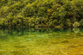 Plitvice lakes in Croatia - nature travel background — Stock Photo